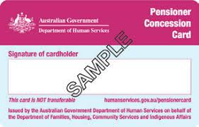 Centrelink concession card